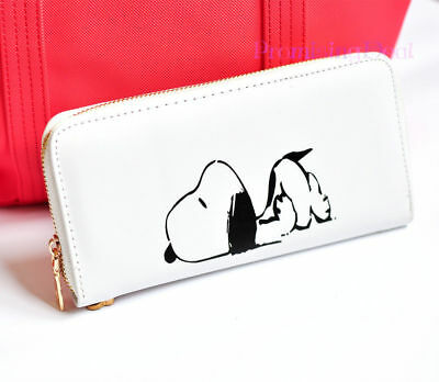 New Cute Snoopy Peanuts Women Girl Purse Clutch Wallet Card Holder Invoice Case