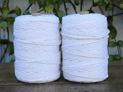 white macrame cord 5mm 2kg 360m string rope cotton diy crochet weaving supply