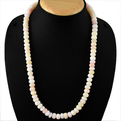 Fantastic Best Quality 287.80 Cts Natural Pink Australian Opal Beads Necklace