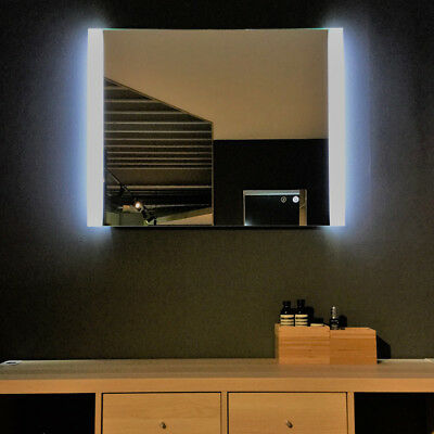 Classic 900 LED Backlit Mirror with Demister by Remer 90cm x 70cm