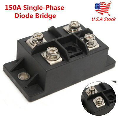US Black MDQ-150A Single-Phase Diode Bridge Rectifier 150A Amp Power 1600V