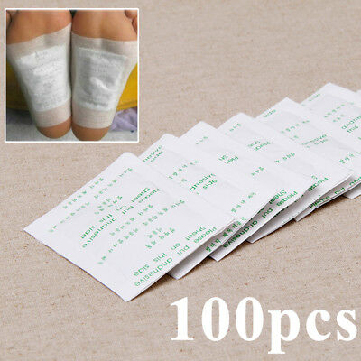 100 x Detox Foot Pad Patch Herbal Detox  Weight loss toxin removal Double Ion