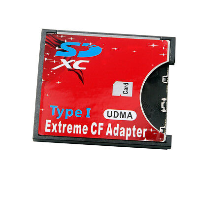 Speed SDXC SDHC SD to CF Compact Flash Memory Card Reader Adapter Type I High