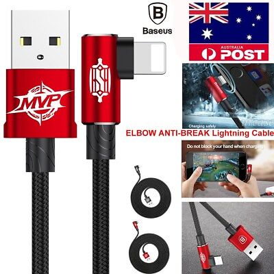 ELBOW Nylon Braided Lightning USB Data Sync Charger Cable i Phone X 8 7 6 S Plus