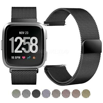 For Fitbit Versa Milanese loop Stainless Steel Watch Strap Band