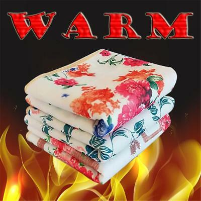 Electric Heated 220V Polyester Floral Printed Bedroom Electric Blankets HOT
