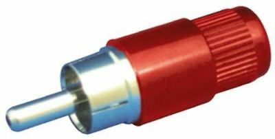 Sato Parts Red Panel Mount RCA Plug, 1A