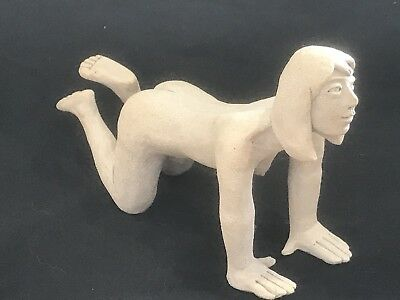 Welsh Pottery Ewenny Claypits Nude Lady Figure Sculpture