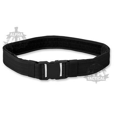 British Army Style Combat Belt New Black Quick Release Assault Web