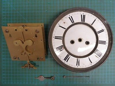 Gustav Rech Wall Clock Movement And Dial For Spares Or Scrap