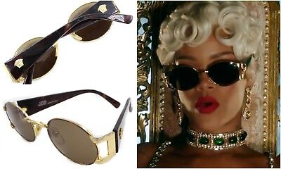 41189eb2575 AUTHENTIC GIANNI VERSACE S60 Vintage Round Gold Brown Sunglasses -  168.06