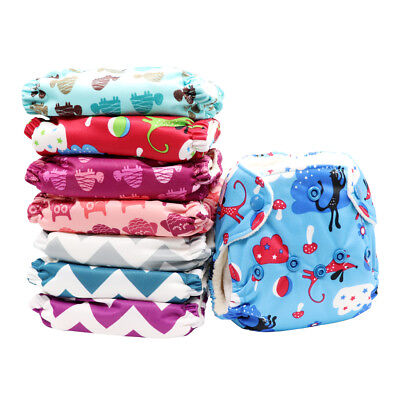 MABOJ Newborn All in One Cloth Diapers with Snaps Closure Reusable Overnight AIO