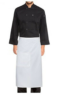 50 x Chef Works Black Bistro Aprons