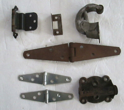 Vintage Door Hinges and Closers. Strap Hinges, Spring Loaded, Assorted Lot of 7