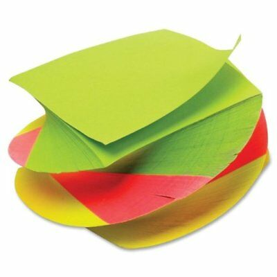 TOPS 3 x 3 Inches Neon Twirl Memo Pads, Assorted Colors, 400 Sheets/Pad, Pack of