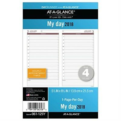 AT-A-GLANCE Day Runner One Day Per Page Refill, January 2018 - December 2018,...