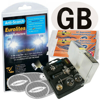 Headlamp Beam Deflector Converters Alcohol Breathalyser GB Magnet Spare Bulb Kit