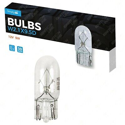 10 x 501 12V W5W Sidelight Number Plate Car Capless Tail Light Wedge Bulbs