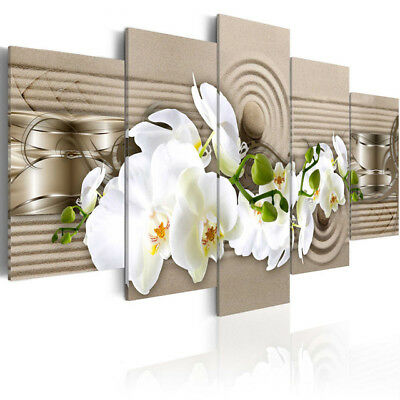 Orchid Painting Flower 5 Pieces Wall Art Hd Print Canvas Oil Pictures