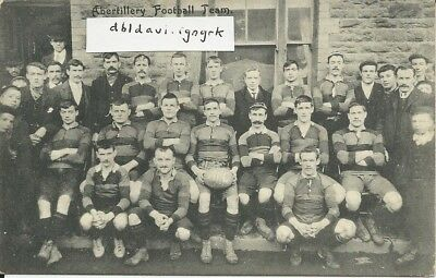 Vintage RP postcard of Abertillery AFC football team 1907, Monmouthshire