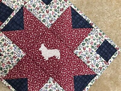 Quilted Corgi Dog Potholders with Hanging Ring Set of 2 FREE SHIPPING