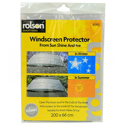 Rolson Windscreen Protector Winter Rain Frost Ice Shield Cover Screen Shade Rear