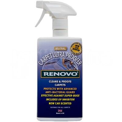 Renovo Carpet Ultra Proofer Cleans Waterproofs Protects Car Interior Carpet UV