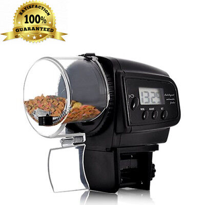 BW Aquarium Automatic Fish Feeder, Auto Food Feeder with LCD Display for...