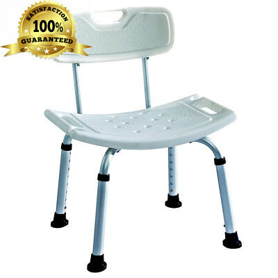 Deluxe Height Adjustable Aluminium Bath / Shower Chair With Back and shower...