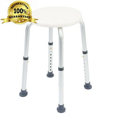 NRS Healthcare Round Shower Stool L97718 Height Adjustable (Eligible for VAT...