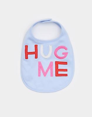 Joules Yum Yum Applique Bib in Skyblue in One Size