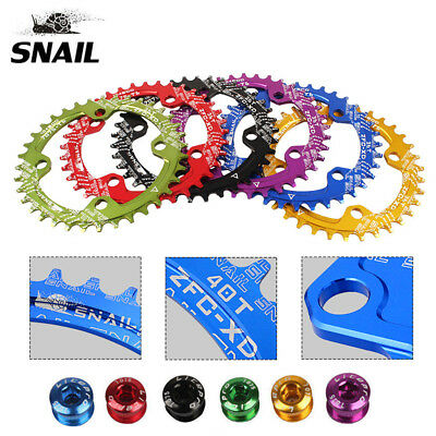 BCD104mm Mountain Bike Chainring Narrow Wide Single Speed 32T-38T Sprocket Bolts