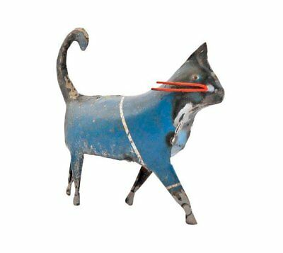 Recycled Metal Cat Sculpture