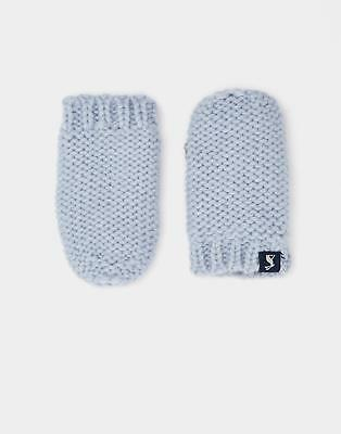 Joules 124471 Baby Boys Paws Knitted Mittens S in Skyblue Size SinM
