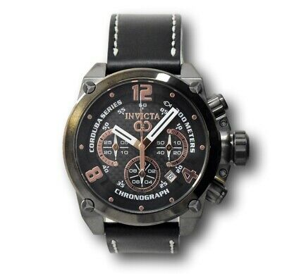 Invicta Corduba Brink 22171 Rose Gold Stainless Black Leather Chronograph Watch