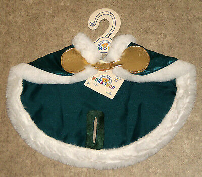 Build a Bear Tinsel Reindeer Forest Green Cape Stuffed Animal Deer Outfit 2017