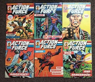 ACTION FORCE #1 1987  - Marvel Comic's - First Issue Bundle / Joblot