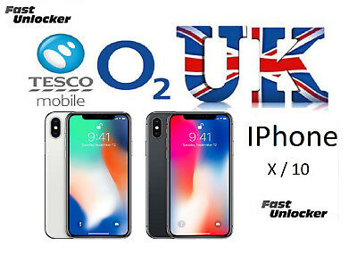 O2 Tesco UK official factory unlock code for apple iphone X iphone 10