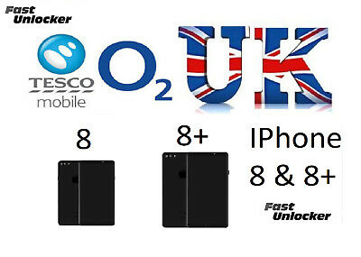 O2 Tesco UK official factory unlock code for apple iphone 8 & 8+ Plus
