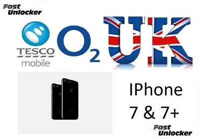 O2 Tesco UK official factory unlock code for apple iphone 7 & 7+ Plus