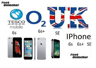O2 Tesco UK official factory unlock code for apple iphone 6s & 6s+ Plus SE