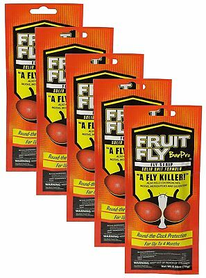 NEW - 5 PACK - Fruit Fly BarPro Fly Strip – 4 Month Protection -FREE SHIPPING