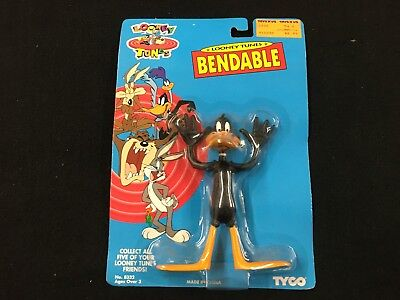 """Looney Tunes Daffy Duck Bendable 6"""" Action Figure by Tyco Brand in New Package"""