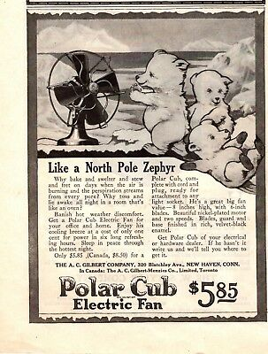 1919  Magazine Print Ad Polar Cub Electric Fan  Advertisement A163