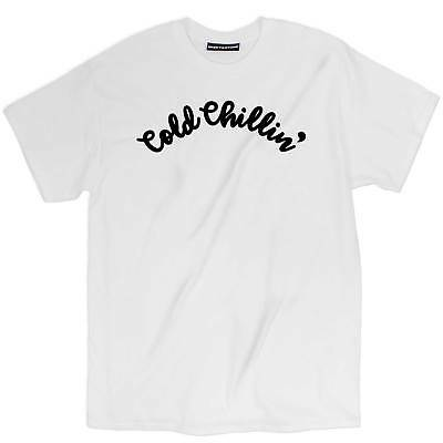 4933a47d Misky & Stone Cold Chillin Funny Cool Tee Unisex Cotton White T Shirt S-3xl
