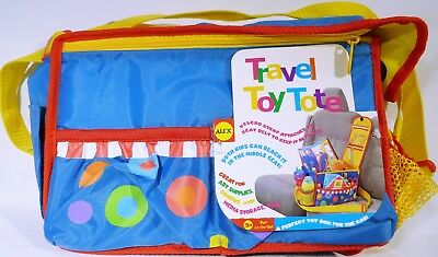 Alex Colorful Toy Car Travel Tote with Yellow Strap New