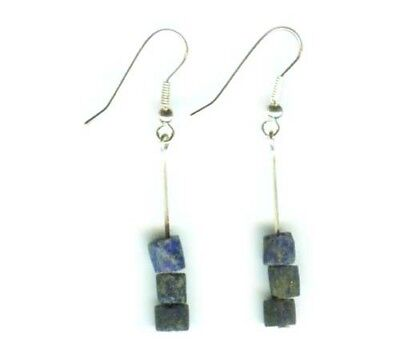 Ancient 3000BC Assyrian Armenian Lapis Lazuli Earrings Persia Gem of the Heavens