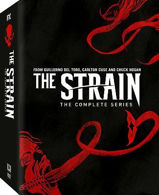 THE STRAIN Complete Series Seasons 1-4 on DVD - Season 1 2 3 4 -14 Disc Box Set