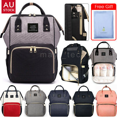 2018 GENUINE LAND Multifunctional Mummy Baby Backpack Diaper Nappy Changing Bag