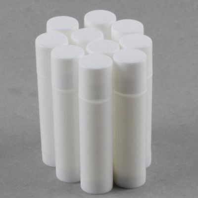 Empty White Lip Balm Container Tube 100, 50, 20, 10, 5, 2, 1 - UK Supplier